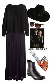"""""""Zoe Benson"""" by domogirl23 ❤ liked on Polyvore featuring H&M, Timberland, Coven, Zimmermann and Barton Perreira"""