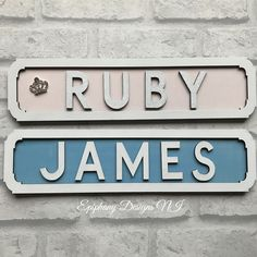 Street sign vintage wooden personalised - wall hanging hand painted finished with sparkle detail By Epiphany Designs NI