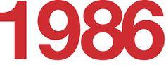 Bildresultat för 1986 year logo
