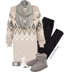 Cozy Christmas Sweater, created by immacherry on Polyvore