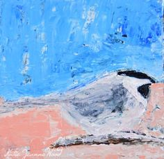 Giclee Print Chickadee Bird Animal Portrait Painting Songbird Cottage Chic Blue Pink Wildlife Prints Wall Hanging Wall Decor No 6 - pinned by pin4etsy.com