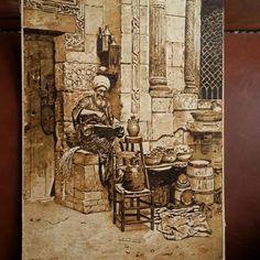 Osmanlı gravur çalışması