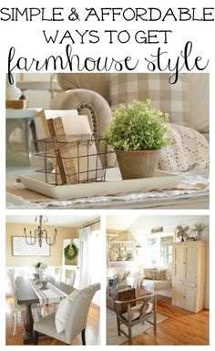 Farmhouse Style Decor - Farmhouse Style In Your Home Simple and Affordable Ways to Get Farmhouse Style. These easy and practical ideas will show you how to get a cozy farmhouse feel in your home. Kitchen Decorating, Decorating Your Home, Decorating Ideas, Door Decorating, Decorating Websites, Interior Decorating, Country Farmhouse Decor, Farmhouse Style Decorating, Farmhouse Table