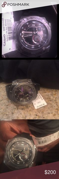 G Shock Watch G Shock Black on Black Water Resistance Watch G-Shock Accessories Watches