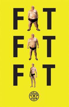 Wymowna reklama siłowni