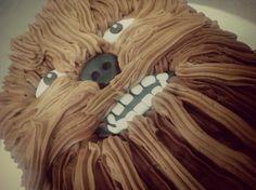 Chewbacca Star Wars Buttercream Cake www.facebook.com/happybeimbacken