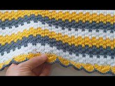 Crochet Blanket Patterns, Baby Blanket Crochet, Baby Knitting Patterns, Crochet Stitches, Crochet Baby, Rope Crafts, Baby Afghans, Afghan Blanket, Paper Flowers Diy