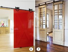 7 Beautiful Barn Doors - The Interior Collective Hanging Barn Doors, Basement Studio, Attic Conversion, Antique Doors, Interior Barn Doors, Rustic Interiors, Cozy House, Rustic Style, Sliding Doors