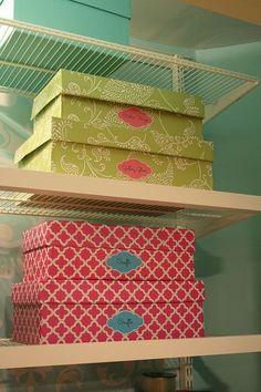 craft sewing closet, craft rooms, DIY Storage Boxes