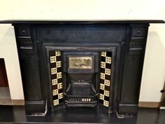 Antique slate fireplace surround dates from the late Victorian to early Edwardian era for sale on SalvoWEB from V&V Reclamation in Hertfordshire [Salvo code Craftsman Fireplace, Cabin Fireplace, Fireplace Seating, Fireplace Cover, Shiplap Fireplace, Fireplace Mirror, Concrete Fireplace, Fireplace Ideas, Fireplace Shelves