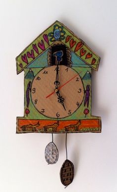 I should totally have Sam draw me a clock and then put guts in it.