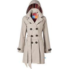 HappyRainyDays - Trench coat Sahara beige with detachable hood
