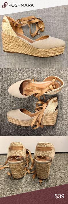 Schutz Lace Up Espadrilles Schutz tan lace up espadrilles. Leather insole. Size 8. SCHUTZ Shoes Espadrilles
