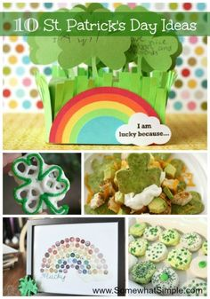 10 SIMPLE St. Patrick's Day Ideas from www.SomewhatSimple.com #stpatricksday