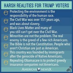 Harsh Realities for Trump Voters-- also may I add that one minority group is destroying America. The rich.
