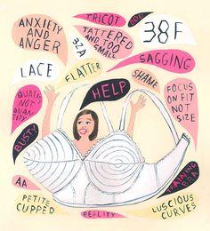 martha-rich-bra-anxiety-illustration by jenvaughnart, via Flickr
