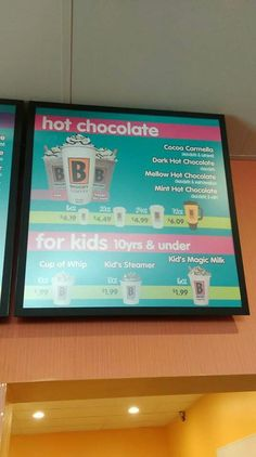 Biggby Coffee om East End of Jackson, Michigan Jackson Michigan, Biggby Coffee, Menu Boards, Milk Cup, East Side, Hot Chocolate, Cocoa, Om, Crockpot Hot Chocolate