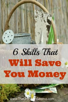 6 Skills That Will Save You Money: In the search to save money, don't forget about simple skills that can save you a ton!  Discover 6 skills that anyone can learn which will help you live frugally.