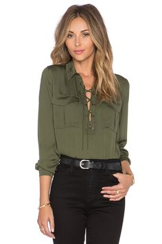 ca635f3b328f ... from China office shirt design Suppliers  HYH HAOYIHUI 2017 Brand New  Summer Fashion Ladies Office Shirts Lace Top Long Sleeve Designer Tops Army  Green ...