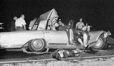 Jayne Mansfield - accident that killed her. Celebrity Cars, Celebrity Deaths, Jayne Mansfield, Electra 225, Buick Electra, Dumpster Diving, Car Crash, Mariska Hargitay, Ayrton Senna