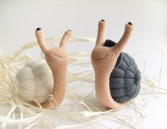 Snails Cake Topper  Needle Felted Wedding Cake Topper by felttess