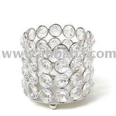 crystal votive candle holder: Bamboo Decoration, Wedding Ideas, Wedding Decorations, Votive Candles