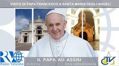 Papa Francesco si reca in visita alla Porziuncola, l'antica chiesetta che vide le tappe principali dell'esperienza spirituale di San Francesco d'Assisi, nell' VIII Centenario del Perdono di Assisi. (4 august 2016).