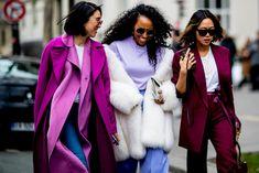 Eva Chen, Shiona Turini and Aimee Song at Paris Fashion Week Fall 2018. Photo: Imaxtree