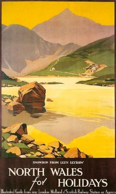 Fantastic A4 Glossy Print - 'North Wales' - Taken From A Rare Vintage Travel Poster (Vintage Travel / Transport Posters) by Unknown http://www.amazon.co.uk/dp/B006YDJM4M/ref=cm_sw_r_pi_dp_FQ0nvb1XYTQC1