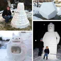 these are some cool snowmen