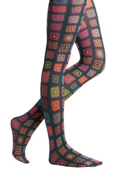 Granny square tights! So want to make these!!