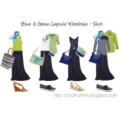 Blue & Green SAHM Capsule Wardrobe - Skirt by chicmummy on Polyvore featuring Emerson, Moving Comfort, By Malene Birger, Isolá, Keds, Nine West, Gap, Lipsy, Ann Taylor and CasualChic