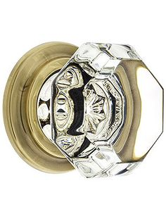 Oversized crystal octagon cabinet knobs for wardrobes, dressers and closet doors.