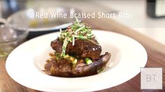 This is the type of dish that you tend to want to have seconds, thirds, and if you're a champ, maybe even a fourth round. Beef Ribs Recipe, Food Net, Braised Short Ribs, Rib Recipes, Beef Dishes, Thanksgiving Recipes, Byron Talbott, Red Wine, Kitchens