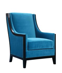 Elements International Birmingham (757) in Cosmo 14001-10 Teal Bright, bold, and beautiful, the Birmingham Accent Chair will transform your living room into a high fashion lounge. Featuring a traditional design, espresso wood trim, and our electric Cosmo Teal fabric, you can sit in style. Built on a solid wood frame and fixed on dark espresso feet, this chair is also crafted for durability. #HPmkt