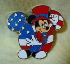 Walt Disney World Mickey Mouse Independence Day 2009 LE Pin