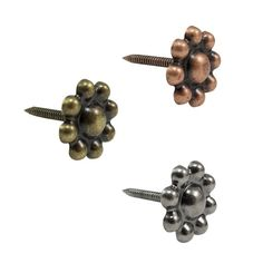 "Berry Flower Upholstery Tacks 7/8"" Leather Tacks 10 Pack Upholstery Nails"