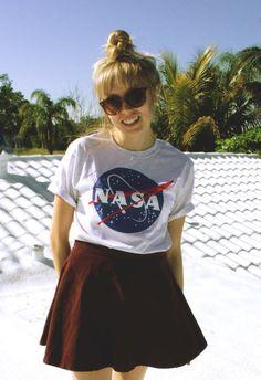 NASA Meatball Kurzarm Tshirt in Esche von PikeProducts auf Etsy