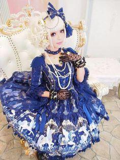 #HimeLolita #Lolita #LolitaMode #LolitaFashion #LolitaStyle #Blue #Girl #JapaneseMode #Kawaii #Cute #Dress