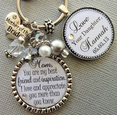 MOTHER of the BRIDE gift PERSONALIZED keychain  Mother by buttonit
