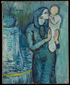 Pablo Picasso – Mother and Child by a Fountain, 1901, Oil on canvas, 41x32.7 cm