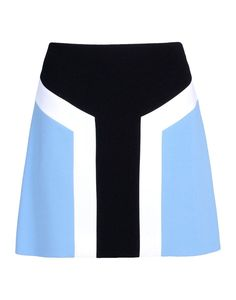 Emilio Pucci Color-Block Wool Skirt