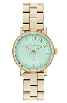 Gold and Mint Bracelet Watch