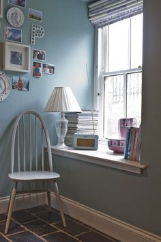 Wall painted in Dix Blue by Farrow & Ball