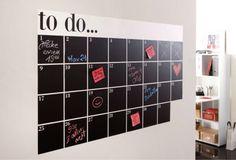 Handige maandplanner! -> zelf maken met krijtverf!