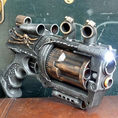 Steampunk Gun Nerf Maverick NStrike by oldjunkyardboutique on Etsy, $49.99