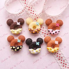 Mouse Fancy Biscuit Cabochon Fake Sweets Decoden by SophieToffeeCo, $6.00