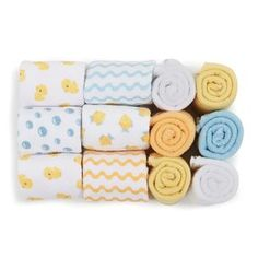 $6 // Soft Baby Face Washers - 12 Pack