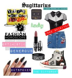 """This is sagittarius' difference"" by the-stylist-girl on Polyvore featuring Killstar, Jimmy Choo, MANGO, Converse, MAC Cosmetics, Oris, Stephen Webster, fashionhoroscope and stylehoroscope"