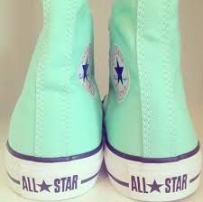 All Star. Converse Shoes love the mint color. Mint Converse, Converse Sneakers, Converse All Star, Converse Chuck Taylor, High Top Sneakers, Colored Converse, Converse Outlet, Cheap Converse, Slippers